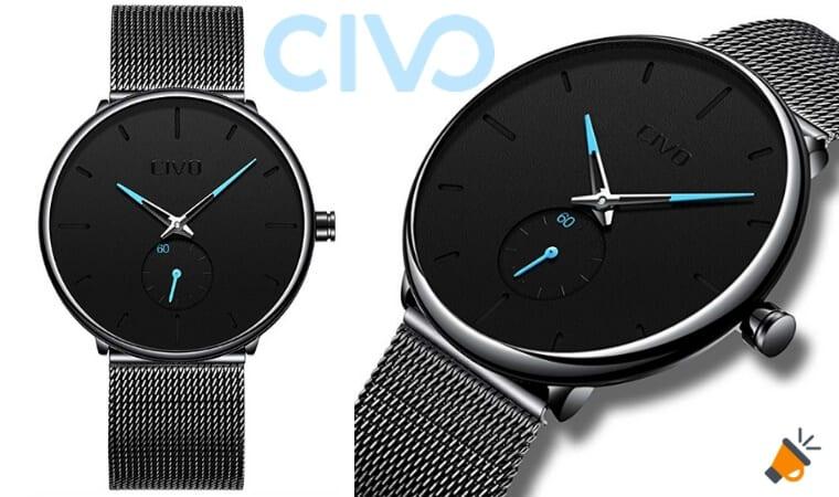 12952b6493a4 ¿Buscas un reloj minimalista barato  Consigue aquí este CIVO para hombre en  oferta