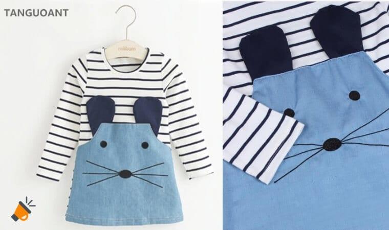 dfd6f2c72 MUY BONITO! Vestido para niña de ratoncito desde 4€ ¡Envío gratis!