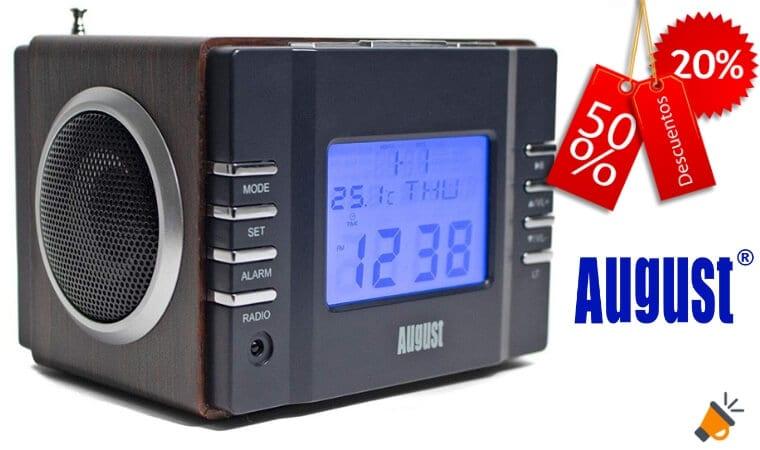 6dc66f9b0 ¡OFERTA FLASH Radio Despertador August con USB y MP3 por solo 23€