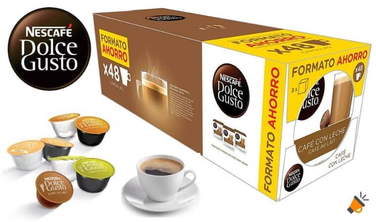 Chollazo 48 c psulas caf con leche nescaf dolce gusto for Capsulas dolce gusto baratas