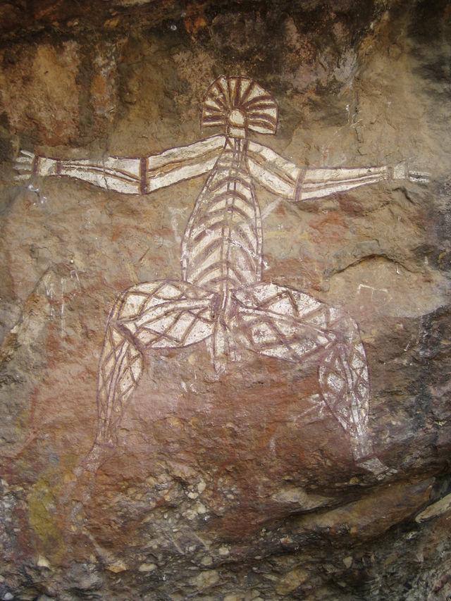 Aboriginal tekening, Kakadu N.P.