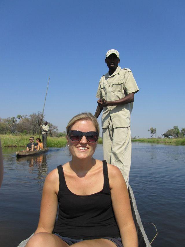 Reisspecialist Stéphanie in de Okavango Delta