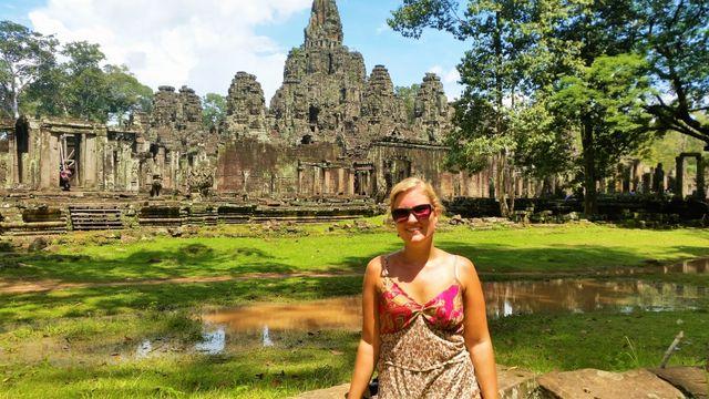 Reisspecialist Stéphanie bij Angkor Wat