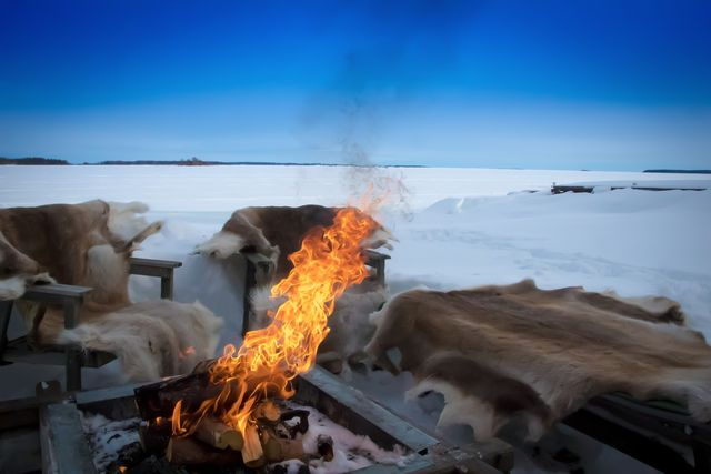 Kampvuur, Fins Lapland
