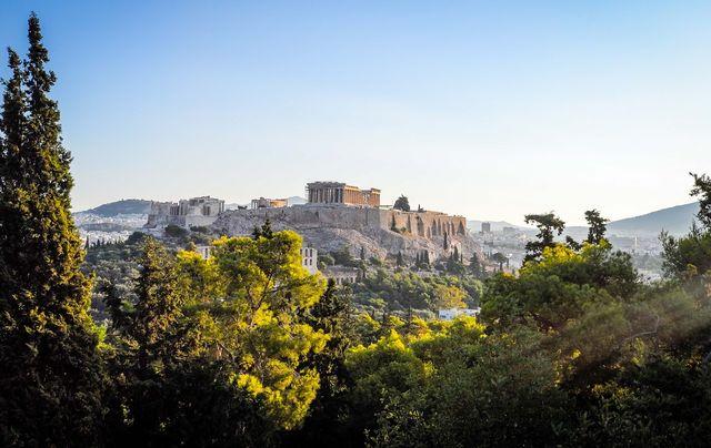 Uitzicht van Athene