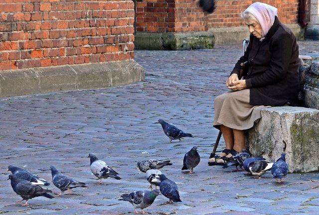 Vrouw in Riga