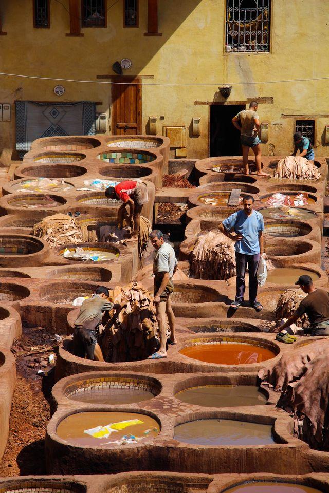 Leerlooien in Fez
