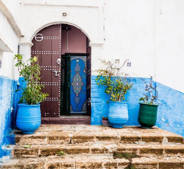 Straatbeeld van Rabat
