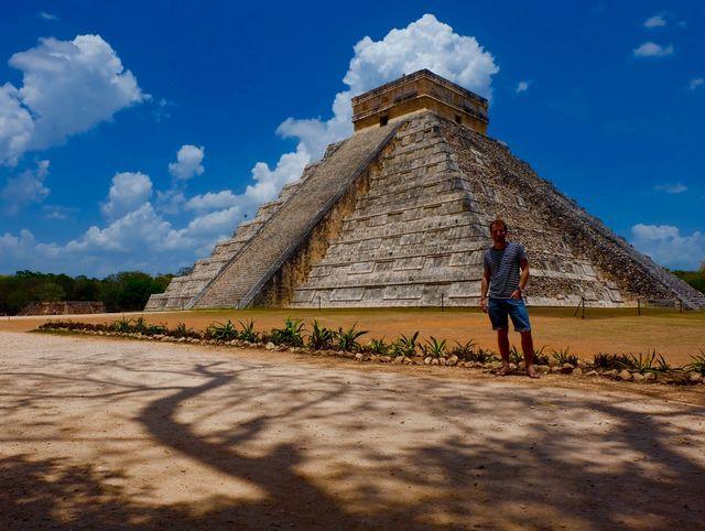 Reisspecialist Jelmer bij Chichén Itzá