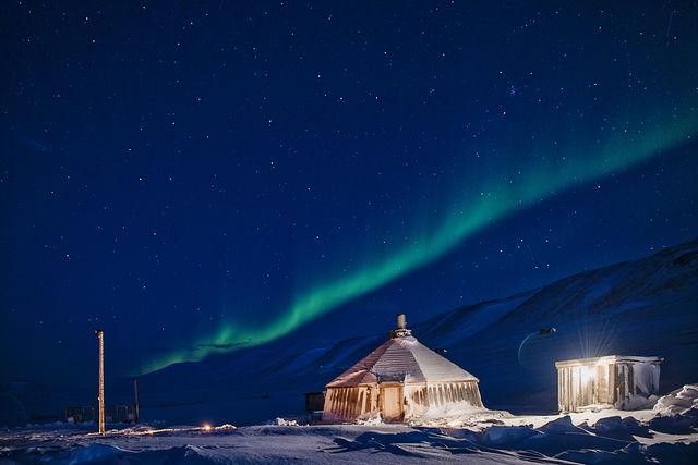 Noorderlicht op Spitsbergen