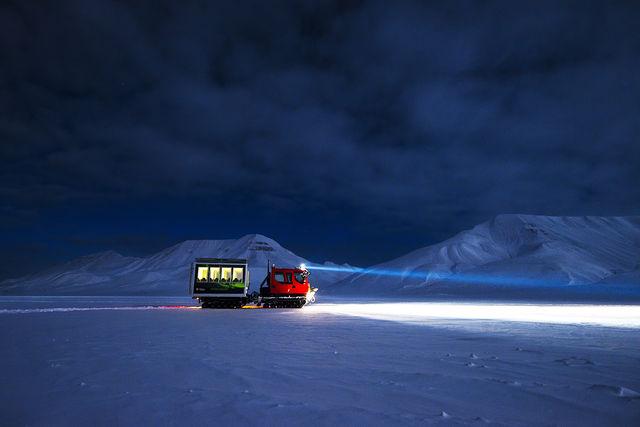Met een Snowcat op pad in Spitsbergen