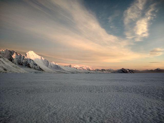 Hansbreen-gletsjer op Spitsbergen