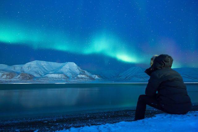 Noorderlicht aanschouwen in Spitsbergen