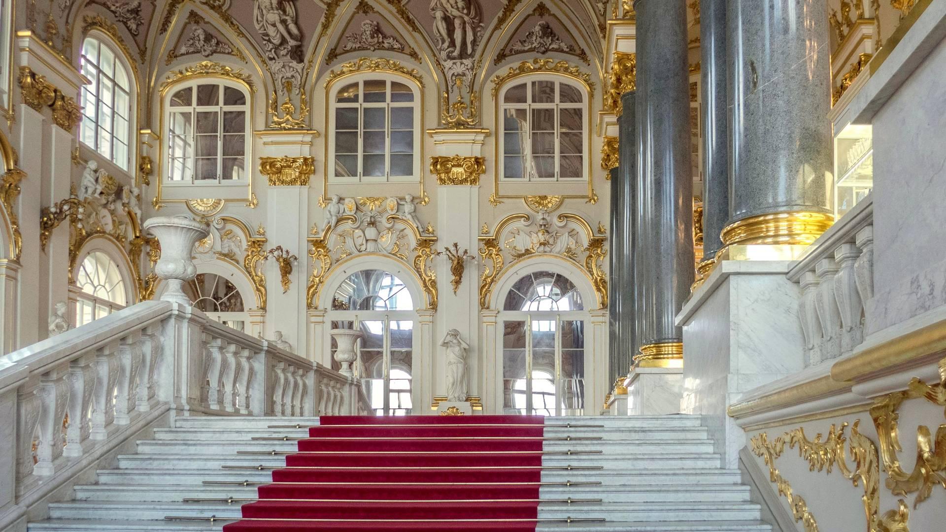 Jordaanse Trappen in de Hermitage, St. Petersburg