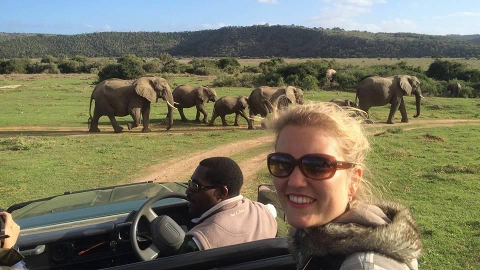 Reisspecialist Stéphanie op safari in het Kariega Game Reserve