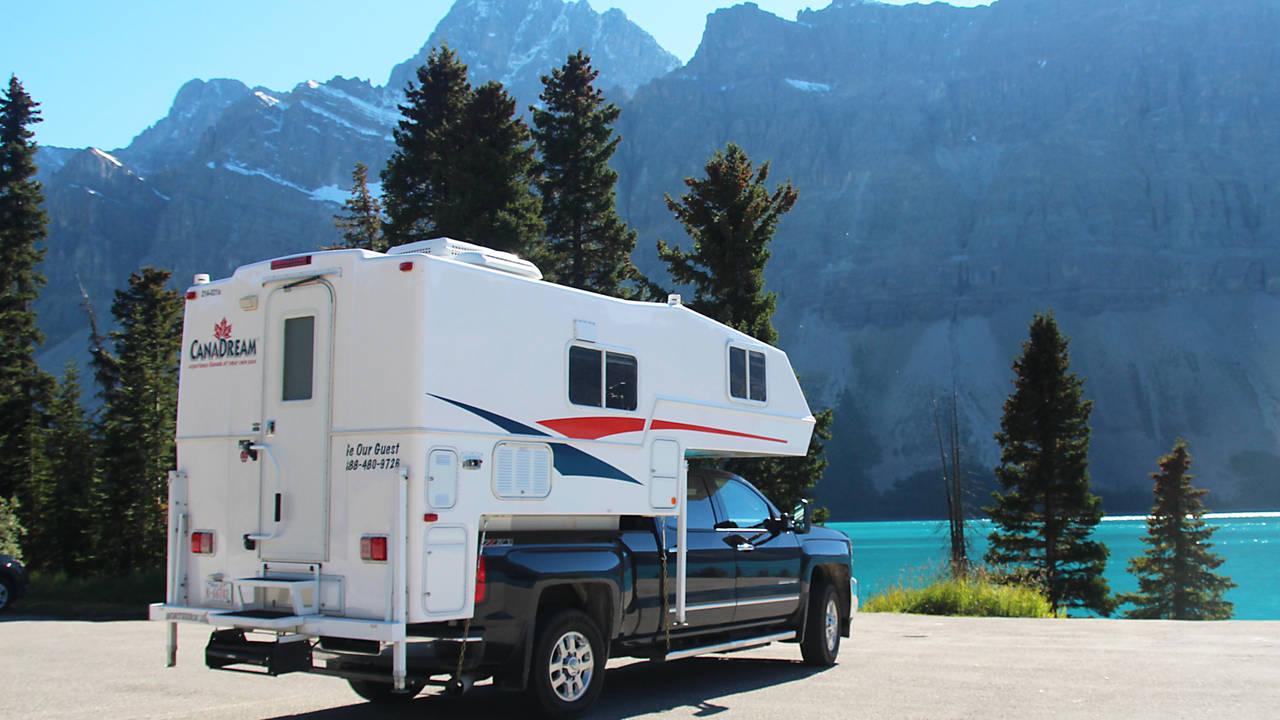 Prachtig uitzicht vanuit de camper