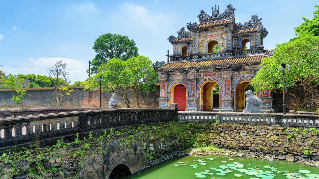 Hien Nhon ingang van de citadel in Hue