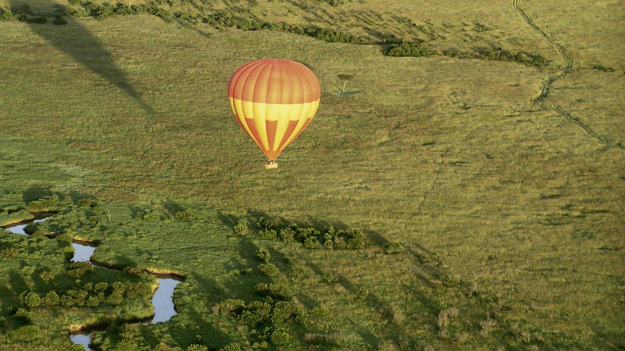 Ballonvaart in Kenia