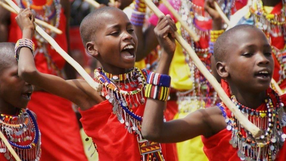 Masai kinderen in Kenia