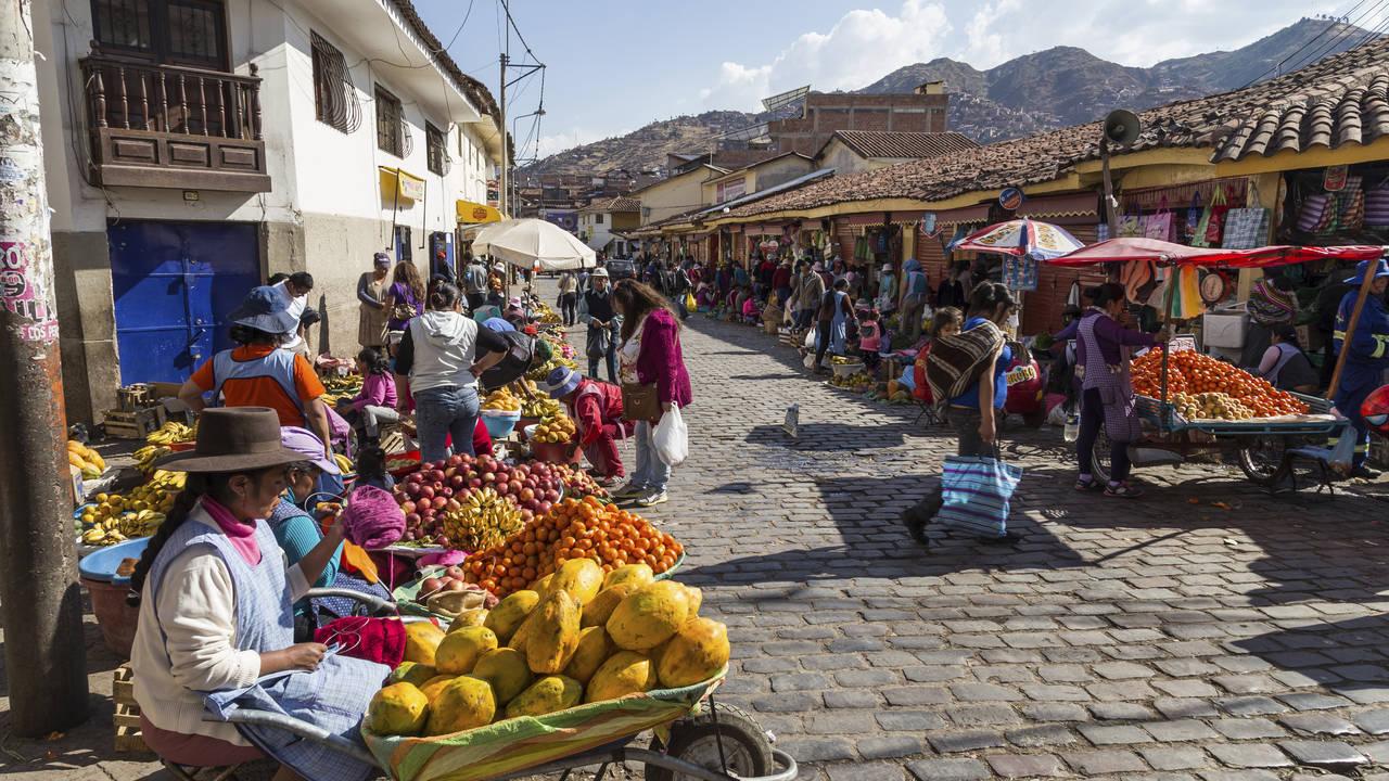 Straatmarkt Cuzco