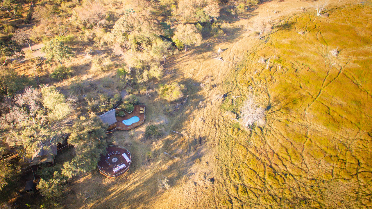 De Rra Dinare kamp in de Okavango Delta