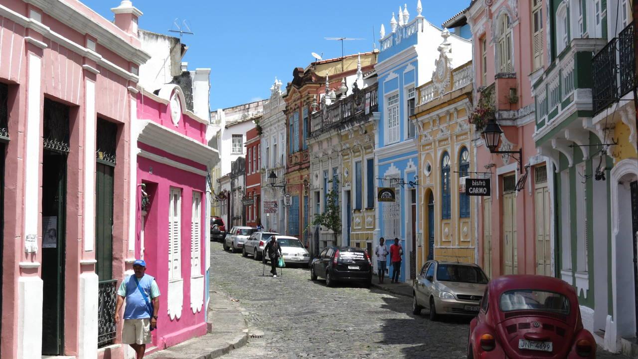 Straat in Salvador da Bahia
