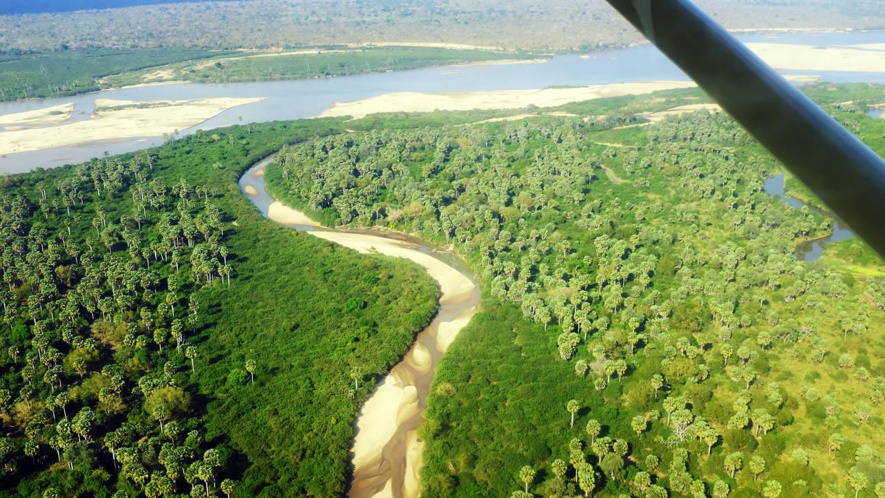 Selous National Park vanuit de lucht