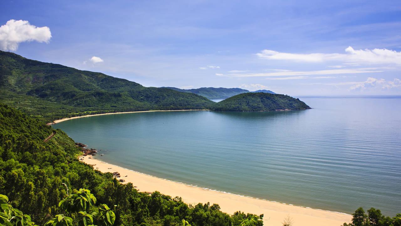 Een strand nabij Danang