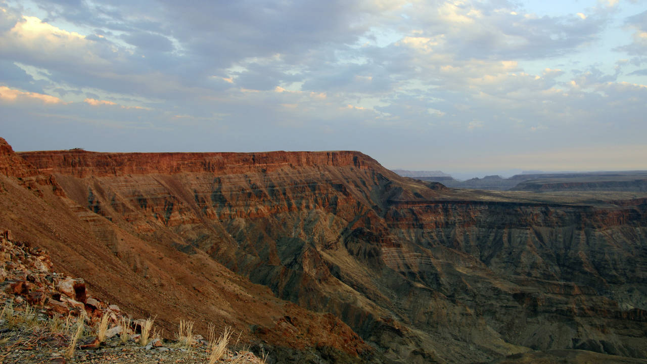 Zonsondergang, Fish River Canyon