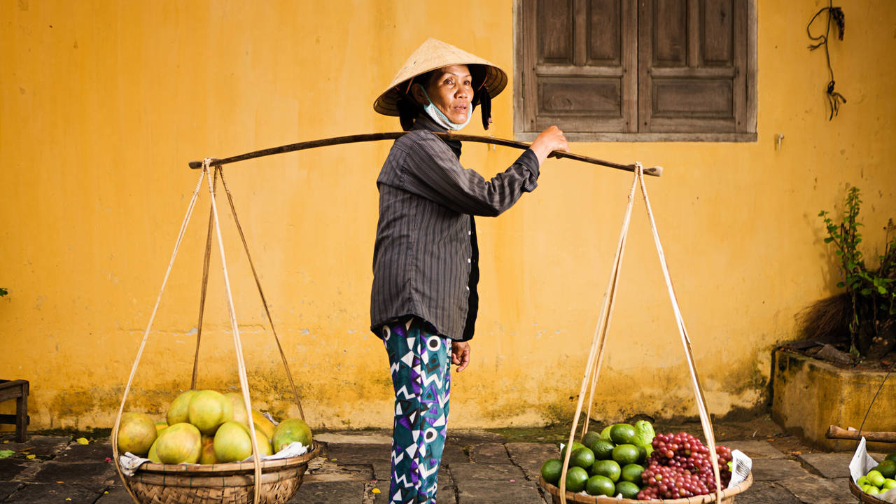 Lokale verkoper in Hoi An