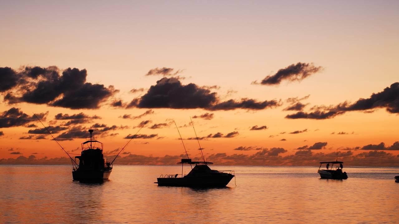 Zonsondergang Seychellen