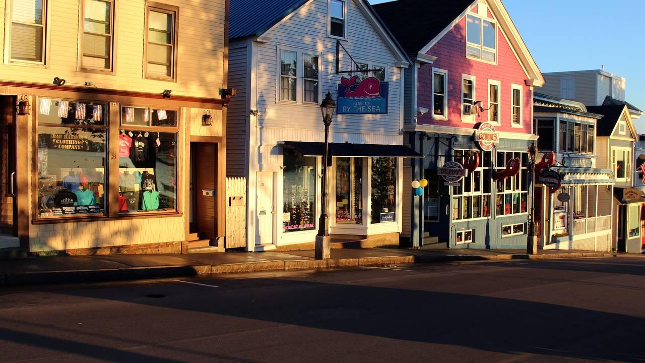 Winkelstraat in Bar Harbor