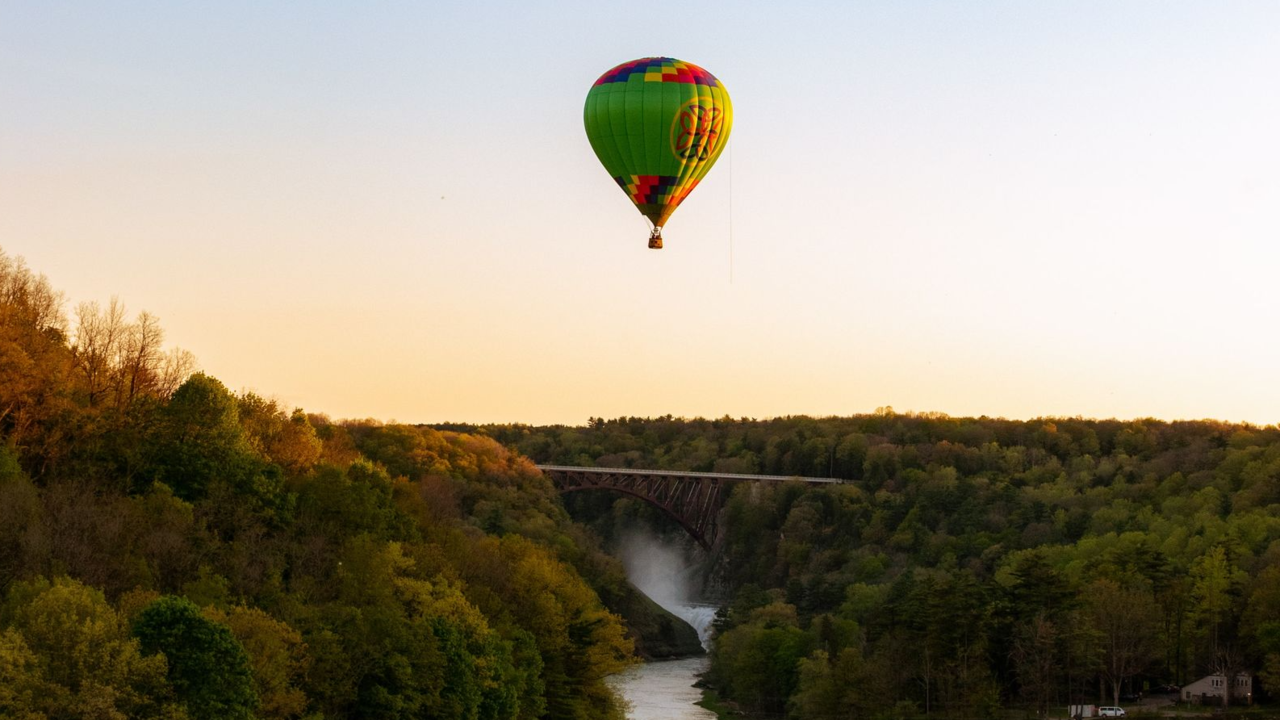 Luchtballon in Letchworth State Park