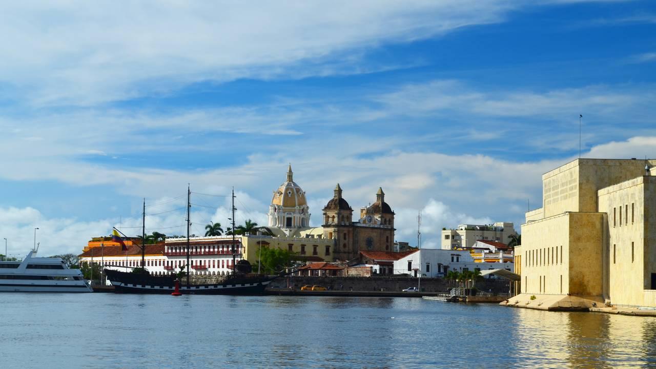 Cartagena vanaf het water