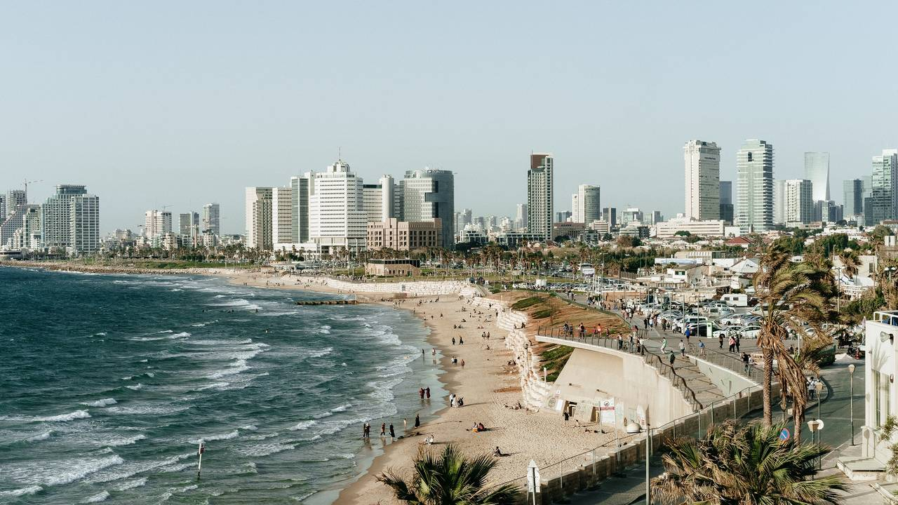 Strand van Tel Aviv