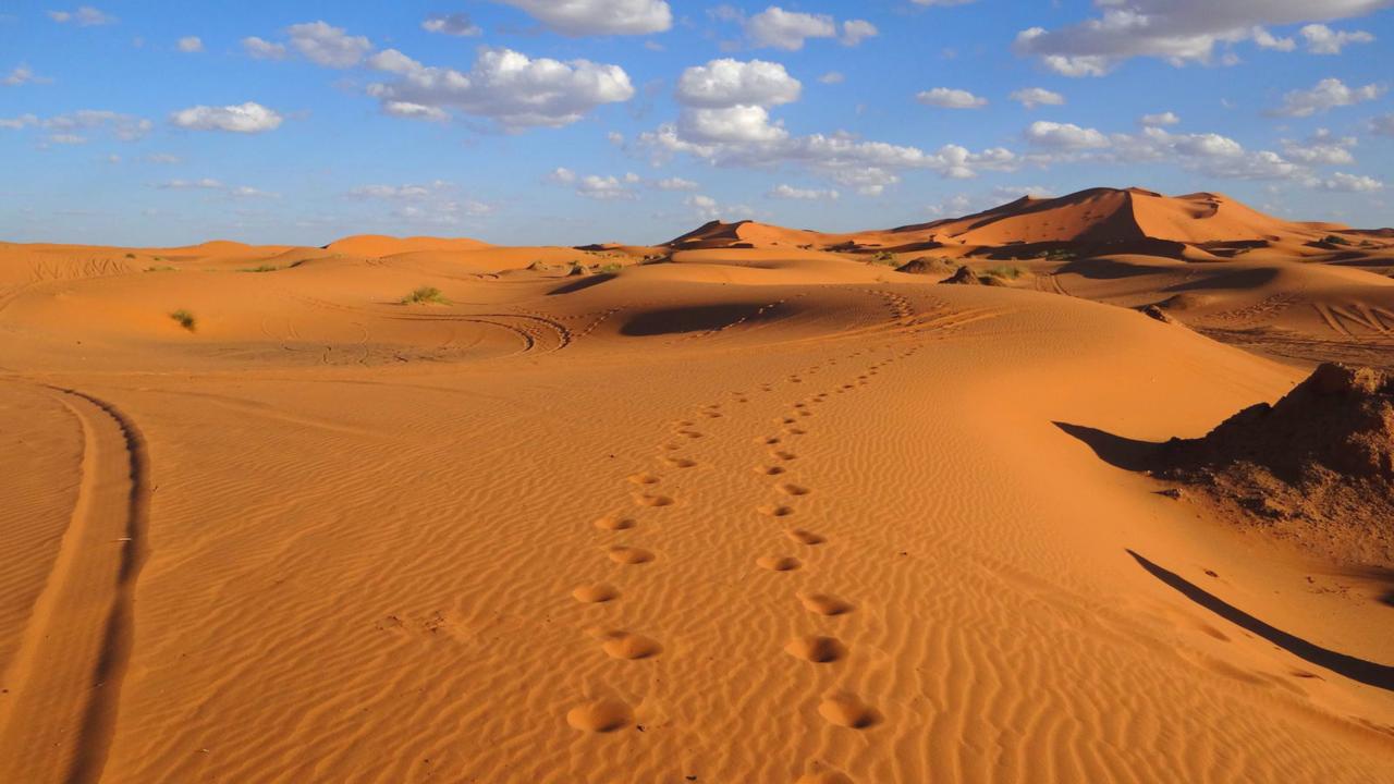 Woestijn bij Erg Chebbi