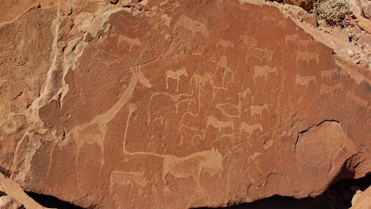 Rotstekeningen in Twyfelfontein