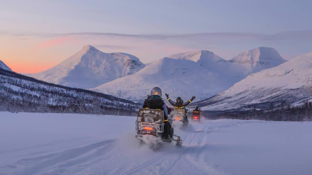 Sneeuwscooters in Tromsø