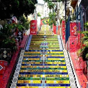 Escadaria Selarón trappen, Rio de Janeiro