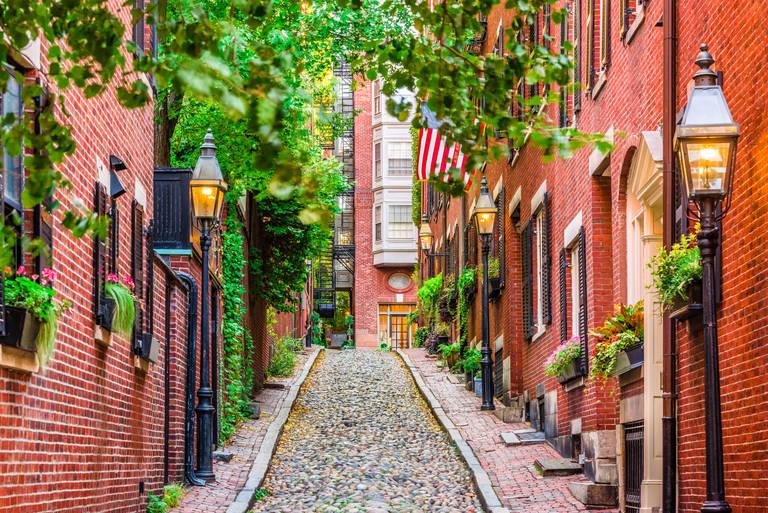 Acorn Street Boston, Massachusetts