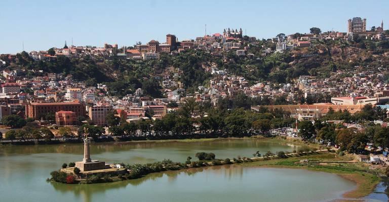 Uitzicht op Antananarivo
