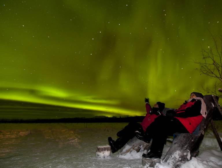 Noorderlicht in Whitehorse, Yukon