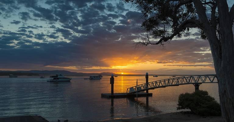 Zonsondergang in Queensland