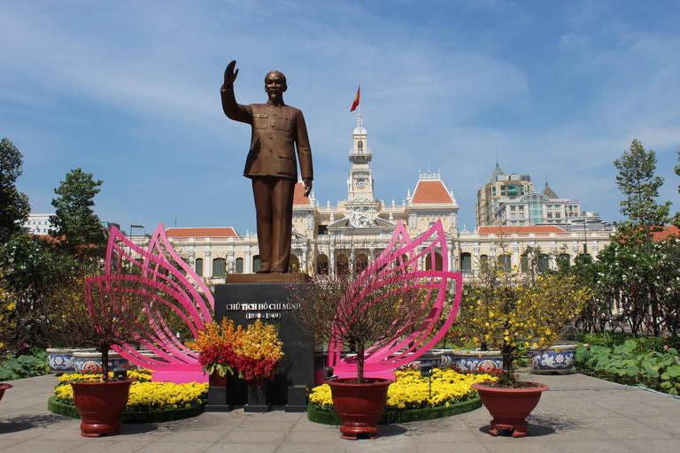 Het beeld van de president Ho Chi Minh