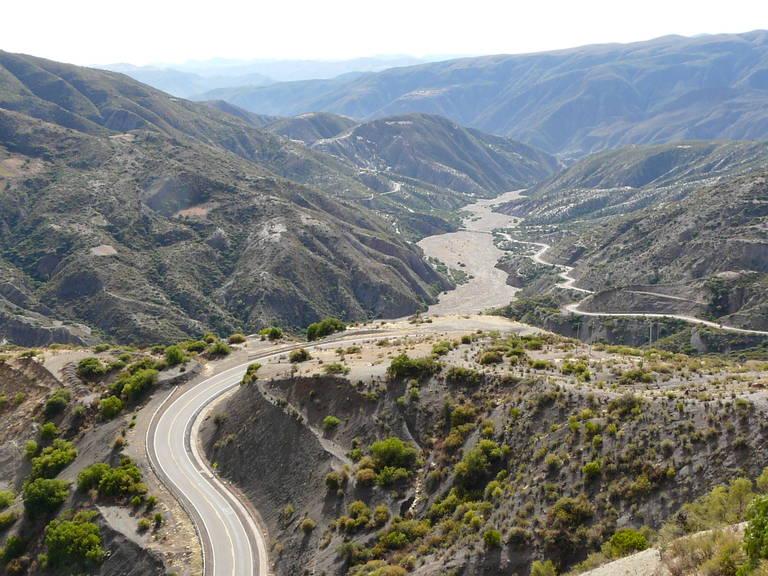 Onderweg tussen Sucre en Potosí