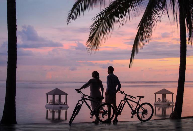 Fietsen langs de kust van Sanur, Bali