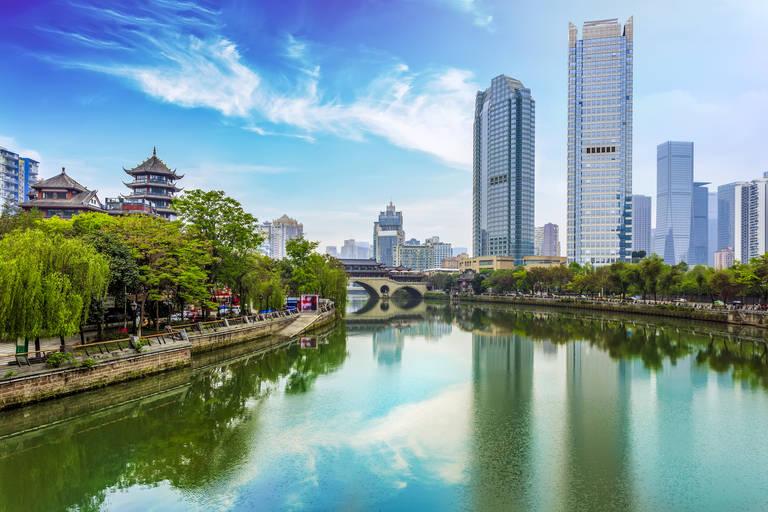 Stadsbeeld Chengdu