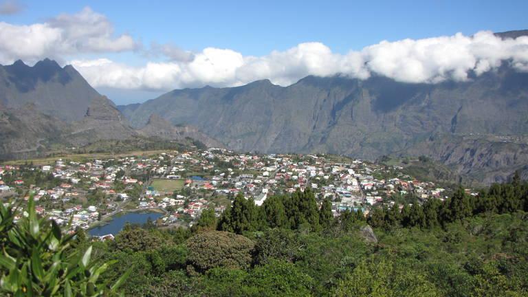Uitzicht op Cilaos