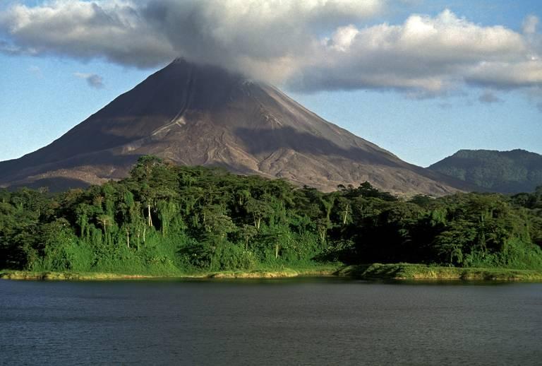 Uitzicht op de Arenal vulkaan, La Fortuna