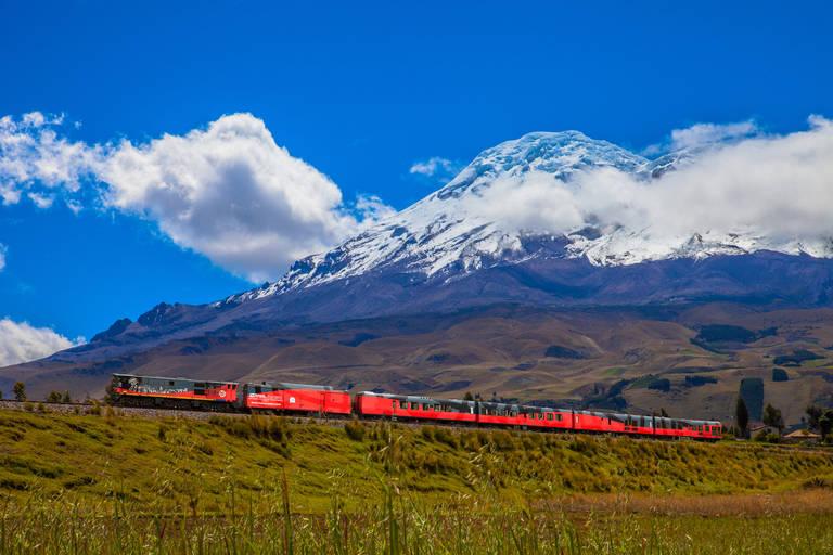 Trein op de helling van Chimborazo